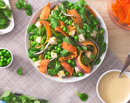Salada de Canónigos e Ervilhas