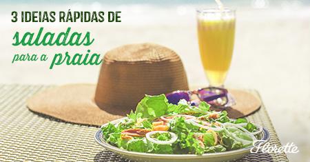 3 ideias rápidas de saladas para a praia