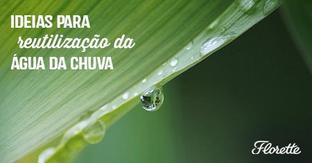 Ideias para reutilização da água da chuva