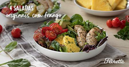 4 saladas originais com frango